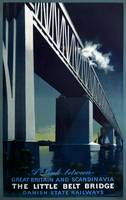 The Little Belt Bridge Vintage Poster