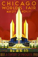Chicago Worlds Fair 1933 Vintage Poster