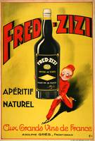 Fred Zizzi Vintage Poster
