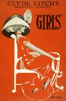 Girls Broadway Show by Clyde Fitch Vintage Poster