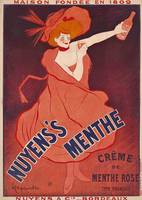 Nuyens's Menthe Vintage Poster