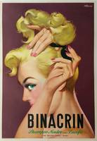 Binacrin Shampoo by Mosca Vintage Poster