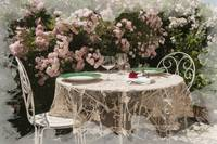 Romantic Luncheon in the Rose Garden
