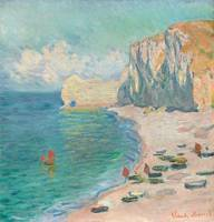 The Beach & Falaise d'Amont by Monet