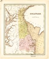 Map of Delaware (1838)