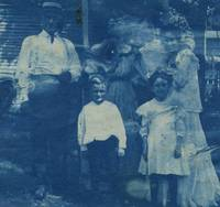 1900's PARANORMAL Cyanotype photo  Family Visited