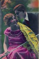 1920s Colorized Romantic Postcards