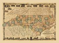 Pearce's new map of the state of North Carolina (c