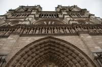 Looking up at Notre Dame Cathedral