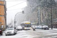 Rome under heavy snow