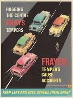 Frayed tempers cause accidents  Road Safety Poster
