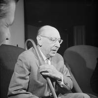 The Russian-born composer Igor Stravinsky, who liv