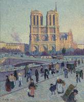 The Quai Saint-Michel and Notre Dame by Maximilien