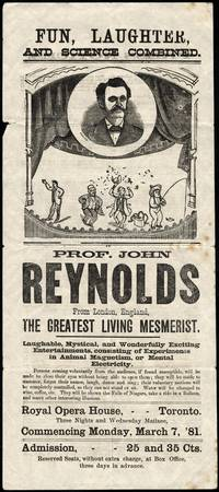 Theatre programme for Prof. John Reynolds - Mesmer