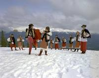 Ukrainian Shumka Dancers in Jasper National Park,