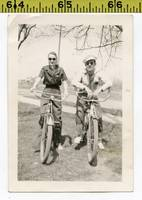 Vintage 1940 BICYCLE photo  Russian Spies in Shade