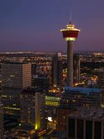 Calgary Tower at Dusk