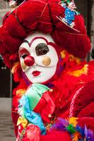 Venetian mask costume clown red white and rainbow