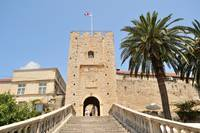 Tower with entrance to the old town. Korcula
