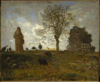 Autumn Landscape with a Flock of Turkeys, Jean-Fra