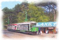 Laxey Tram in Station Watercolour