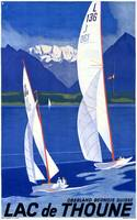 Lac de Thoune, Switzerland Vintage Travel Poster