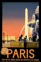 Paris, France Vintage Travel Poster