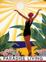 Paradise Living Vintage Travel Poster