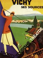 Vichym, France Vintage Travel Poster