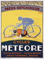 Pneus Hutchinson Vintage Bicycle Poster