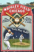 Wrigley Field Vintage Baseball Poster