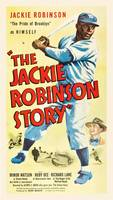 The Jackie Robinson Story Vintage Movie Poster