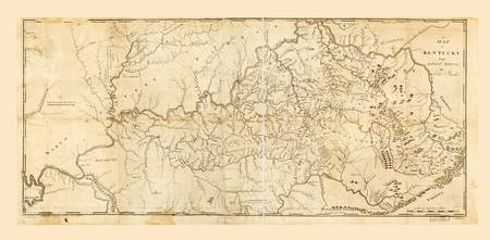 Map of Kentucky by Mathew Carey (1793)