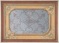 Design for the decoration of a ceiling with urns,