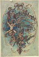 Design for a Title Page Sheet Music Anonymous, Ger