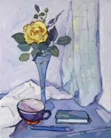 Still Life with Yellow Rose