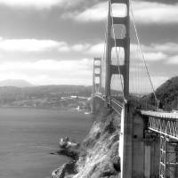 """Golden Gate Bridge (Black and White)"" by kreicher"