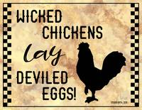 WICKED CHICKENS SIGN