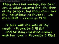 Leviticus 19verse18 and Proverbs 5verses18and19
