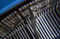 Macro photo photography of vintage typewriter