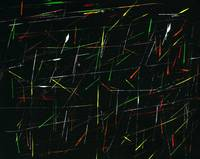 Neon Paint Splatters Black