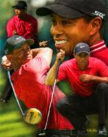 Tiger Woods PGA Golf Professional Golfer Art Print