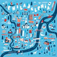 Illustrated Map of Philadelphia by Nate Padavick
