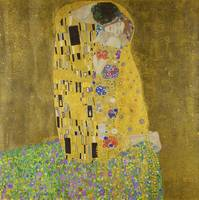 The Kiss (Lovers) by Gustav Klimt (1908–1909)
