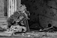 Abandoned Doll In An Old House - B&W