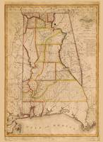 Map of Alabama by John Melish (1819)