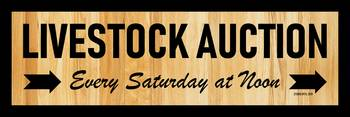 LIVESTOCK AUCTION SIGN