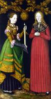 CRANACH, Lucas the Elder - Saints Genevieve and Ap