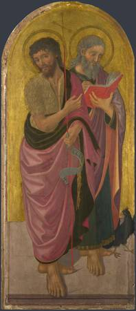 Zanobi Machiavelli - Saint John the Baptist and Sa