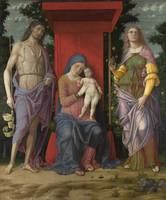 Andrea Mantegna - The Virgin and Child with Saints